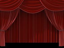 Red curtain. 3d rendered red theatre curtain Royalty Free Stock Images