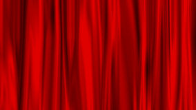 Red Curtain. Beautiful and elegance colored curtain or textile Stock Photography