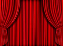 Red Curtain. Vector realistic red curtain for product launches Stock Images