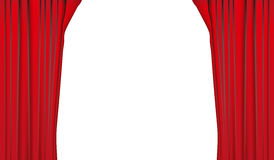 Red curtain. On white background Stock Photo