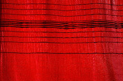 Red Curtain. With horizontal pattern, for background or texture Royalty Free Stock Images