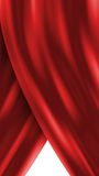 Red curtain. Opening or closing Royalty Free Stock Image