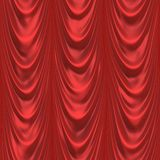Red curtain. Celebration background or theater curtains made of red material Royalty Free Stock Image