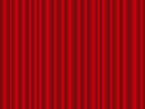 Red curtain. Theatre red curtain background. Vector illustration Royalty Free Stock Photography