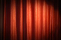 Red curtain. Beautiful red satin curtain, background texture Stock Photos