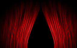 Red curtain. Simple red curtain velvet theater Stock Photos