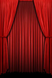 Red Curtain. In vertical format royalty free stock images