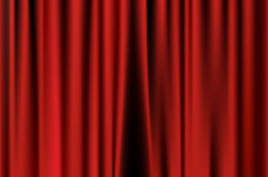 Red curtain. Of movie stage background Royalty Free Stock Photography