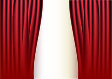 Red curtain. Illustration on white background Royalty Free Stock Photography