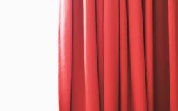 Red curtain against white Royalty Free Stock Photo