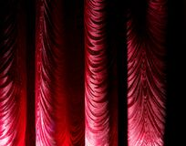 Red curtain as an abstract background. Texture Stock Photo