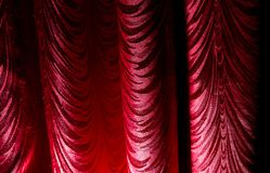 Red curtain as an abstract background. Texture Royalty Free Stock Photography