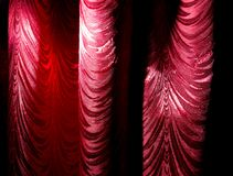 Red curtain as an abstract background. Texture Stock Image