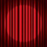 Red Curtain Background Stock Photography