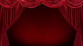 Red curtain with on red background.