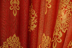 Red Curtain Background. Close op of Red Curtain Background. Macro Stock Image