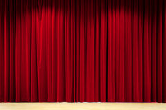 Red Curtain Background. A Red Curtain on stage Royalty Free Stock Photography