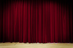 Red Curtain Background. A Red Curtain on stage Stock Images