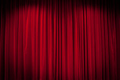 Red Curtain Background Royalty Free Stock Photo