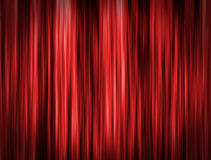 Red curtain background. Red curtain of stage background Stock Images