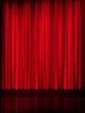 Red curtain background template. EPS 10 Stock Photo