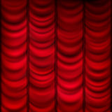Red curtain background template. EPS 10 Stock Images