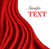 Red curtain background. Vector. Stock Photo