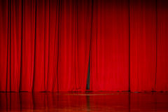 Red curtain backgrounds. Stock Photos