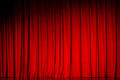Red curtain backgrounds. Royalty Free Stock Images