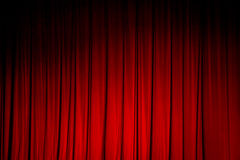 Red curtain backgrounds. Royalty Free Stock Photos