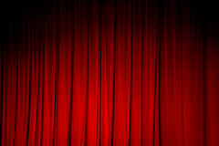 Red curtain backgrounds. Royalty Free Stock Image