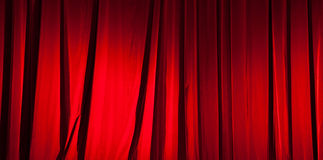 Red curtain banner Stock Image