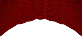 Red Curtain with beautiful pattern Stock Image