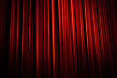 Red Curtain. Beautiful red theater curtain with dark shadows Royalty Free Stock Photos