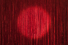 Red Curtain with Center Spot Royalty Free Stock Photography