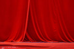 The red curtain Royalty Free Stock Images
