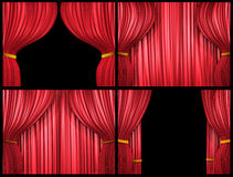 Red curtain collection Stock Photography