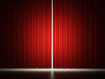 Red curtain concept Stock Images