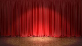 The red curtain. 3d illustration royalty free stock photo