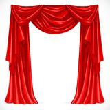 Red curtain draped with pelmet Royalty Free Stock Photo