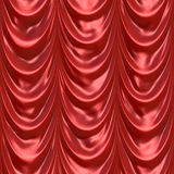 Red Curtain Drapery. An illustration of a silky satin red fabric or curtain. This tiles seamlessly as a pattern in any direction Royalty Free Stock Images