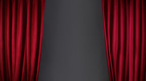 Red curtain or drapes Royalty Free Stock Photo