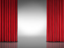 Red Curtain Entertainment Background Royalty Free Stock Image