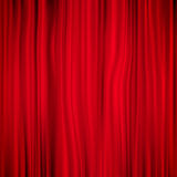 Red curtain. EPS 10 Royalty Free Stock Photography