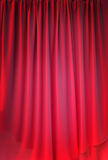Red curtain fabric background texture Royalty Free Stock Images