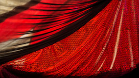 Red Curtain. Red fabric of a show tent detail Royalty Free Stock Photo
