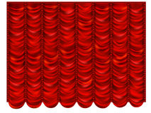 Red curtain in the French style Stock Photo