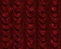 Red curtain with heart pattern Stock Photography