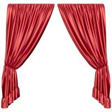 Red curtain isolated. On white background. 3d rendering illustration Stock Photography