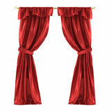 Red curtain isolated Royalty Free Stock Photography